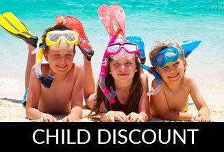 Child discount (under 12 with own bed)