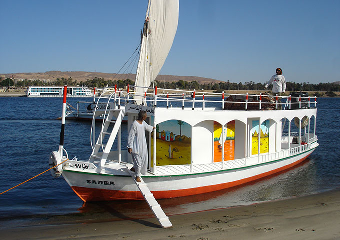 Felucca support boat, Egypt