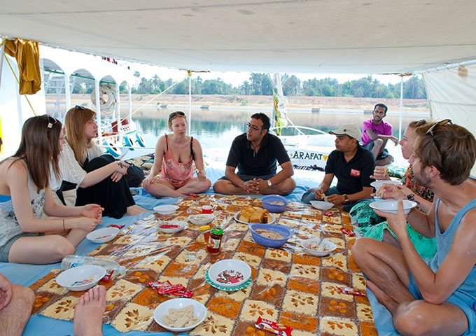 Lunch on board the Felucca