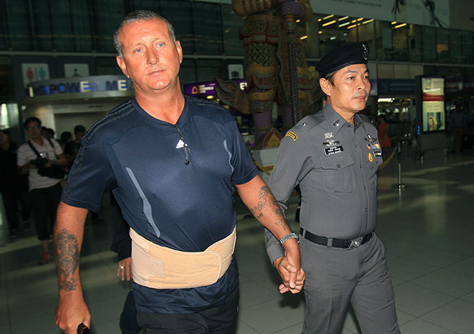 Brit caught by the Thai Police