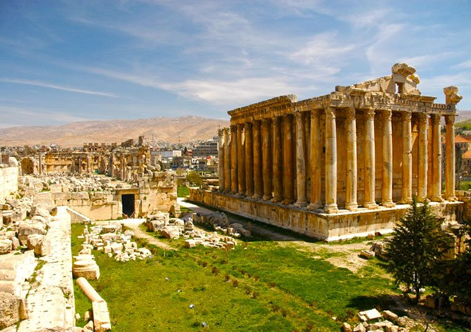 Bacchus Temple at Baalbek, Lebanon