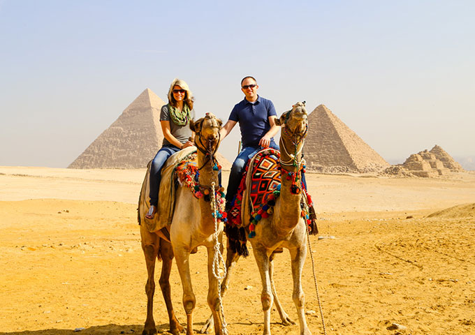 Russ & Rebecca at the Pyramids, Cairo, Egypt