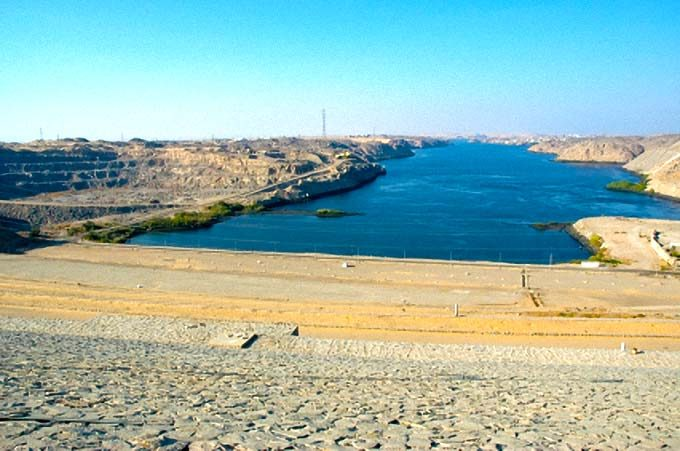 Aswan Dam and Lake Nasser, Egypt