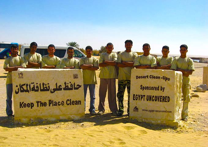 Desert clean up in Egypt