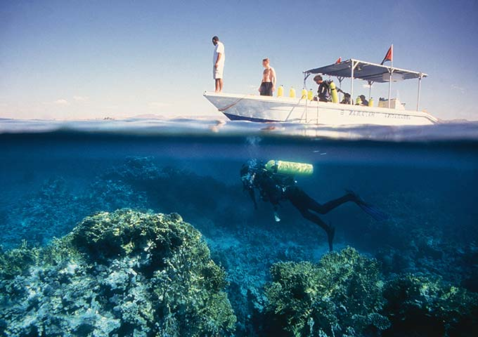 Diving at Aqaba, Jordan