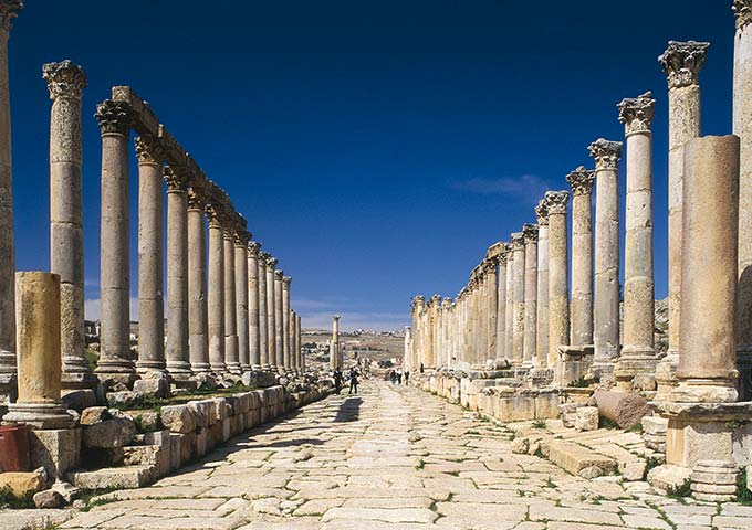 Roman columns, Jerash, Jordan
