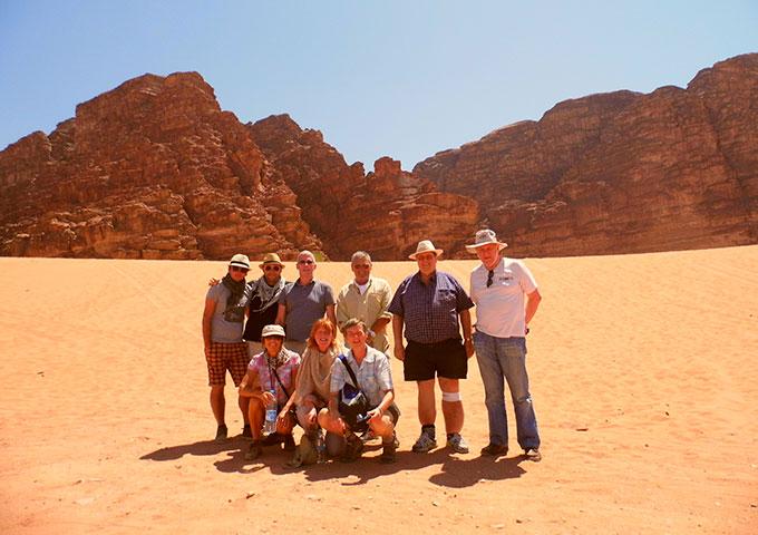 Group in Wadi Rum, Jordan